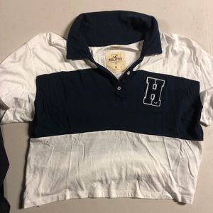 💎 Hollister Cropped Rugby Shirt